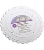Scalloped Separator Plates 7 inch