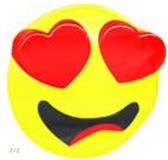 In Love Emoticon Emoji Chocolate Mold