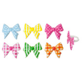 Bows Assorted Cake and Cupcake Toppers