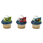 Hot Wheels Cake and Cupcake Toppers