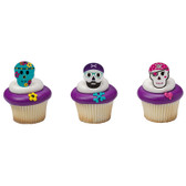 Pirate Skull Cake and Cupcake Toppers