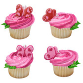 Heart Butterfly Cake and Cupcake Toppers