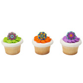 Fiesta Flowers Cupcake and Cake Rings