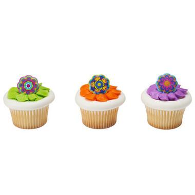 Fiesta Flowers Cupcake and Cake Rings