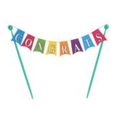 Congratulations Banner Cake Topper