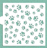 Dogs Paw Mini Cake / Cookie Stencil