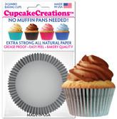 Silver Cupcake Jumbo Liners