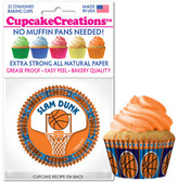 Basketball Cupcake Liners