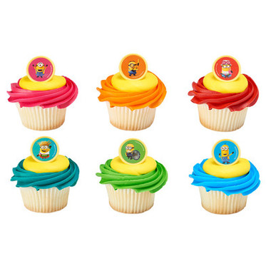 Minion Mayhem Cake and Cupcake Toppers