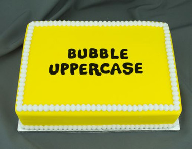 Bubble Uppercase Silicone Molds