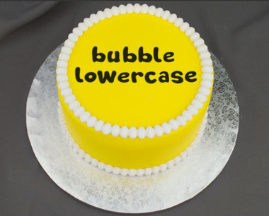 Bubble Lowercase Silicone Molds
