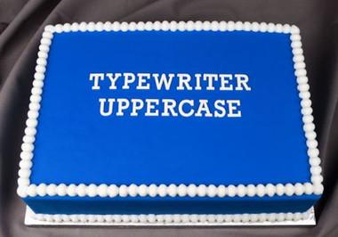 Typewriter Style Uppercase Silicone Mold