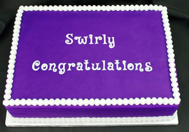Swirly Congratulations Silicone Mold