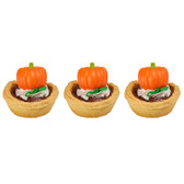 Traditional Pumpkin Cake or Cupcake Toppers