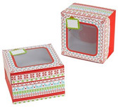 Christmas Cookie Treat Boxes - Ugly Sweater Pattern from Sweet Creations.