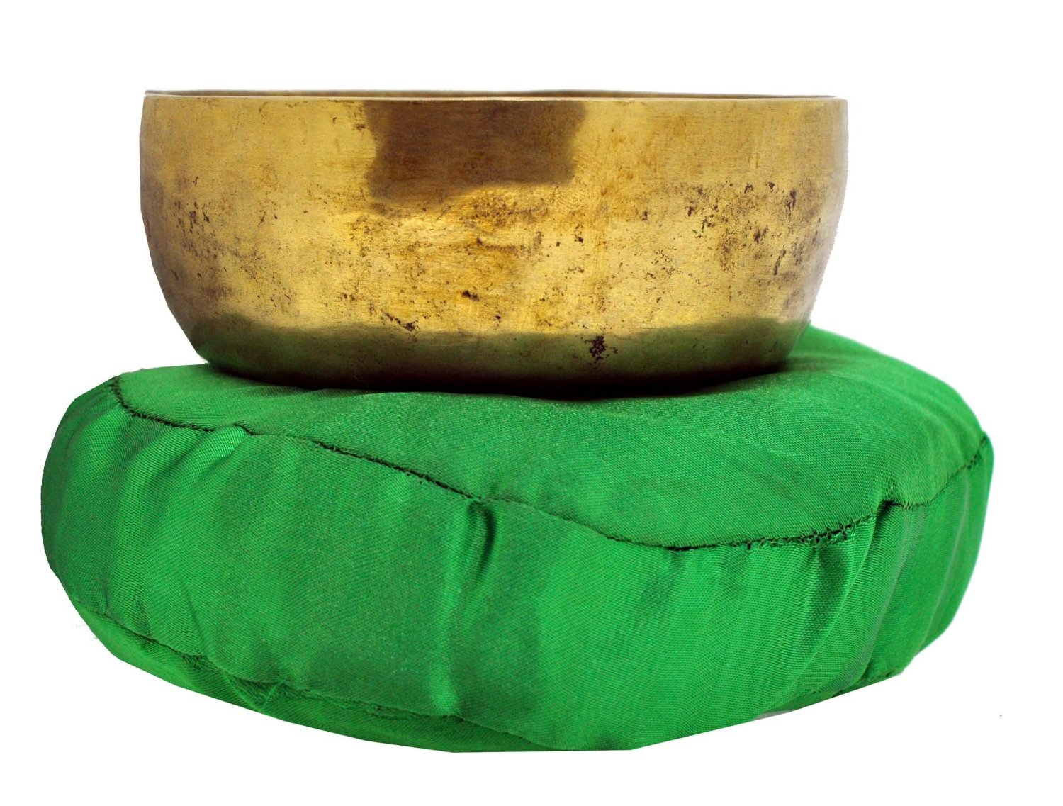 Green Tibetan Singing Bowl Cushion