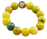Agate Prayer Beads Wrist Mala- Green