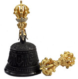 Gold and Bronze Bell and Dorje Set