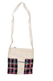 Black Plaid Hemp Handbag