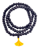 Black Wood Buddhist Mala