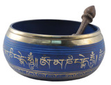 Blue 6.5 Inch Tibetan Singing Bowl