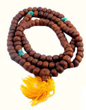 Bodhi Seed and Turquoise Mala- 108 Beads