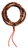 Bodhi Seed Mala with 9 mm Beads on a Satin Cord