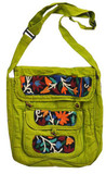 Bright Green Handmade Cotton Handbag
