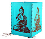 Buddha Cotton Lantern in Teal, Lime Green, Green, Red, Orange, Blue, or Yellow