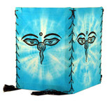 Buddha Eyes Blue Cotton Lantern