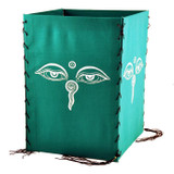 Buddha Eyes Cotton Lantern in Green, Orange, or Blue