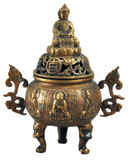 Chinese Buddha Incense Burner Censer