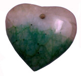 Chinese Green Jade Heart Pendant