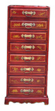 Chinese Handmade Leather Chest of Drawers