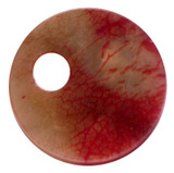 Chinese Jade Double Circle Pendant