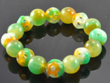 Colorful Green Agate Wrist Mala