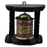 Copper Wall-Mounted Prayer Wheel