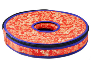 Bhutanese Cymbals in a Brocade Case