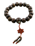 Dark Wooden Buddha Large 16 mm Prayer Beads