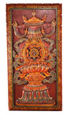 Tibetan Art, Eight Auspicious Signs Wood Carving