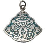 Eight Auspicious Symbols Pendant with Turquoise Inlay