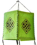 Eternity Knot Green Paper Lantern
