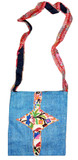 Flowered Hemp and Wool Handbag