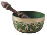 Green Tibetan Singing Bowl