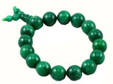 Green Jade Prayer Beads Wrist Mala Bracelet