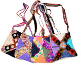 Hemp and Recycled Silk Crisscross Bag