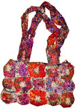 Hemp and Recycled Silk Flower Handbag