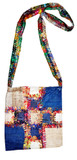 Hemp Handmade Blue Cross Handbag