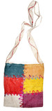 Hemp Red and Yellow Square Shoulder Bag