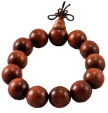 Large, 12 mm Wood Wrist Mala